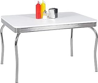 Wohnling Elvis Table, Bois, Blanc, 80 x 120 x 76 cm