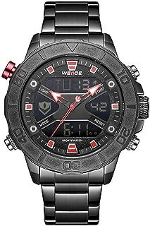 WEIDE WH8503 Dual Display Two Movement Digital Quartz Men Watch 3ATM Waterproof Business Sports Luminous Watch Dual Time Z...