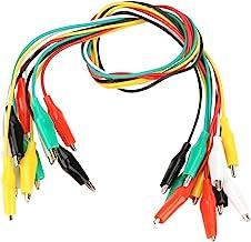 FTVOGUE 10 stuks 50 cm gekleurde krokodillenklemmen, nummer 35 mm, dubbelzijdige kabel voor multimeter, meetkabel, silicon...
