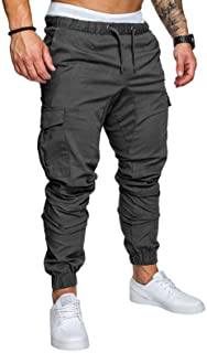 lexiart Mens Fashion Joggers Sports Pants - Cotton Cargo Pants Sweatpants Trousers Mens Long Pants