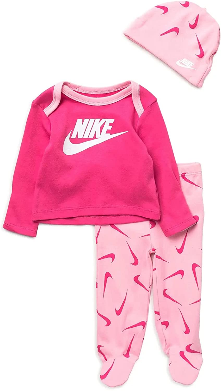 Nike Baby Girl Sale item Long Sleeve T-Shirt Beanie Super intense SALE Piece Hat 3 S Pants