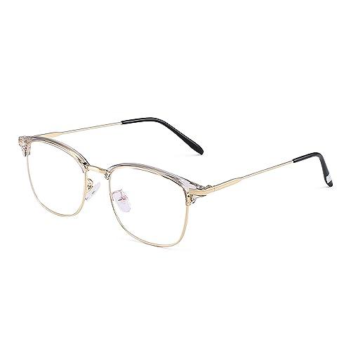945c3af7a4f JM Vintage Semi-rimless Clear Lens Glasses Classic Half Frame Eyeglasses