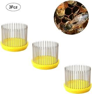 Ximimark 3Pcs Beekeeping Queen Needle Type Bee Cage Stainless Steel Catching Catcher Equipment