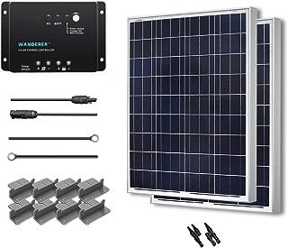 Renogy 200 Watt 12 Volt Polycrystalline Solar Starter Kit with Wanderer