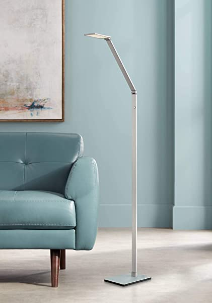 Bentley Modern Task Floor Lamp LED Silver Aluminum Adjustable Touch On Off For Living Room Reading Bedroom Office Possini Euro Design