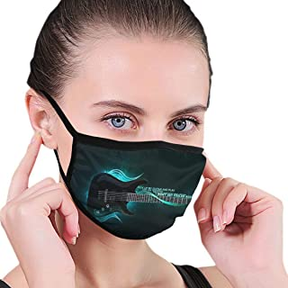 Electric Guitar Adult Face Mask,Surgical Mask,Sanitary Masks,Anti Flu Mask,Safety Air Fog Respirator,Protection Pollution Face Flu Allergens Masks for Women Man