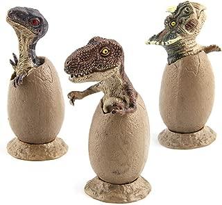 Putars Cute 3Pcs Novelty Magic Crack Easter Dinosaur Hatching Eggs Toy