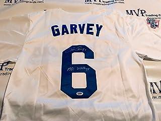 b000499933b PSA DNA Authentic Steve Garvey Autograph Throwback Los Angeles Dodgers  Jersey w   81