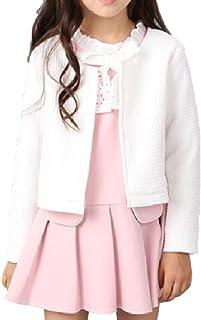 [Nana_Collection(ナナコレクション)] 春 子供服 女の子 ジャケット ワンピース セット 長袖 プリーツ ミニ 入園 お呼ばれ ピンク 150cm