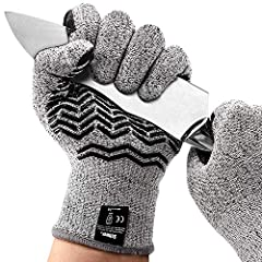 【SAFER】 Our cut resistant gloves are made with the highest level of cut resistant material - 10 times stronger than normal gloves and Level CE-5 cut resistance protection. 【WEAR RESISTANT】 For areas prone to wear, Schwer added a large area of silicon...