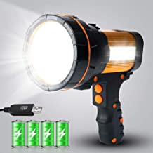 GEPROSMA Super Bright Handheld LED Spotlight Rechargeable Flashlight High Powerful Searchlight Camping Lantern