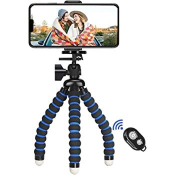 Acouto Mini Flexible Octopus Monopod Stand Accessory for Action Camera Cellphone Blue Blue
