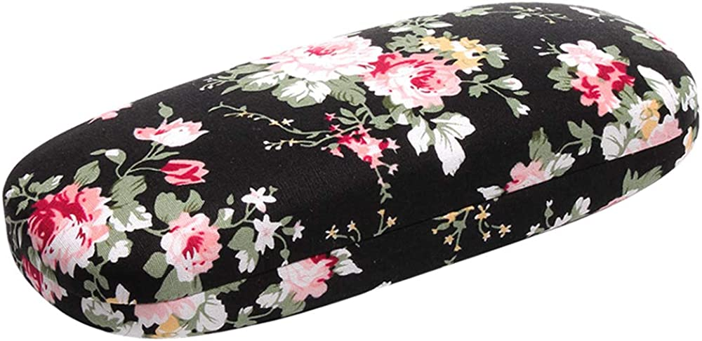 Glasses Case Hard Shell for Men - Kids Surprise price store Women Floral Spectacle