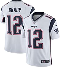 NIKE #12 New England Patriots Tom Brady Men's White Football Jersey