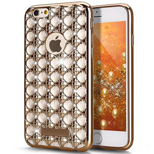 """iPhone 6S Plus Funda, iPhone 6Plus, libre de ikasus [Protector de pantalla de cristal templado + Lápiz] bañado en Rhinestone Crystal Clear con Bling Brillante Glitter Diamante Protectora TPU de goma de silicona Carcasa para Apple iPhone 6S Plus/6Plus 5.5"""""""