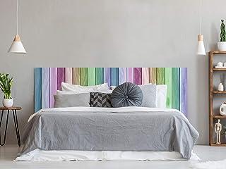 Cabecero Cama PVC Textura Madera Arcoiris 115x60cm |