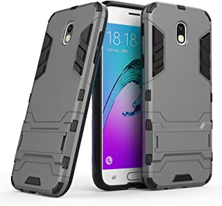 Galaxy J5 Pro 2017 Case, Hybrid Armor Case [2 in 1] Lightweight Hard PC Cover + Flexible TPU Shock Absorption & Scratch Resistant with Kickstand for Samsung Galaxy J5 Pro J530G (2017) - Gray