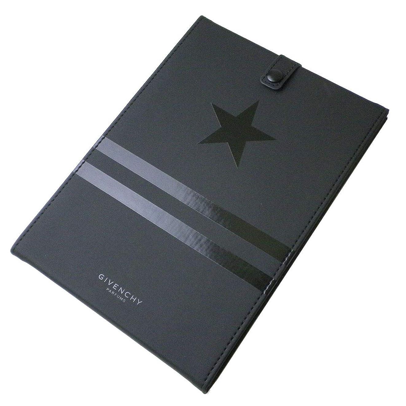 プラグ部分突き出す(ジバンシー) GIVENCHY ミラー 鏡 黒 ブラック 星 スター 星 ライン ロゴ カバー ラバー モノグラム オータム スタンド 折りたたみ 化粧 メイク コスメ