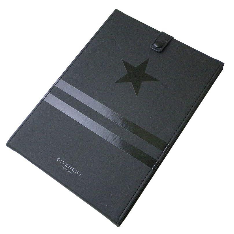 令状キャンパス結び目(ジバンシー) GIVENCHY ミラー 鏡 黒 ブラック 星 スター 星 ライン ロゴ カバー ラバー モノグラム オータム スタンド 折りたたみ 化粧 メイク コスメ