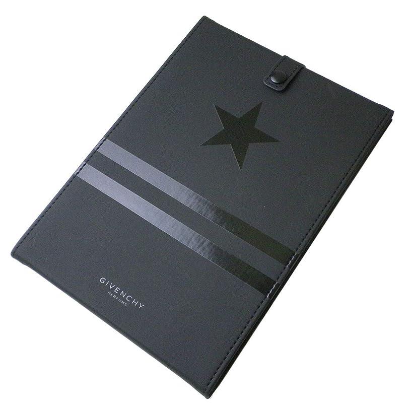 情報旋律的つかむ(ジバンシー) GIVENCHY ミラー 鏡 黒 ブラック 星 スター 星 ライン ロゴ カバー ラバー モノグラム オータム スタンド 折りたたみ 化粧 メイク コスメ