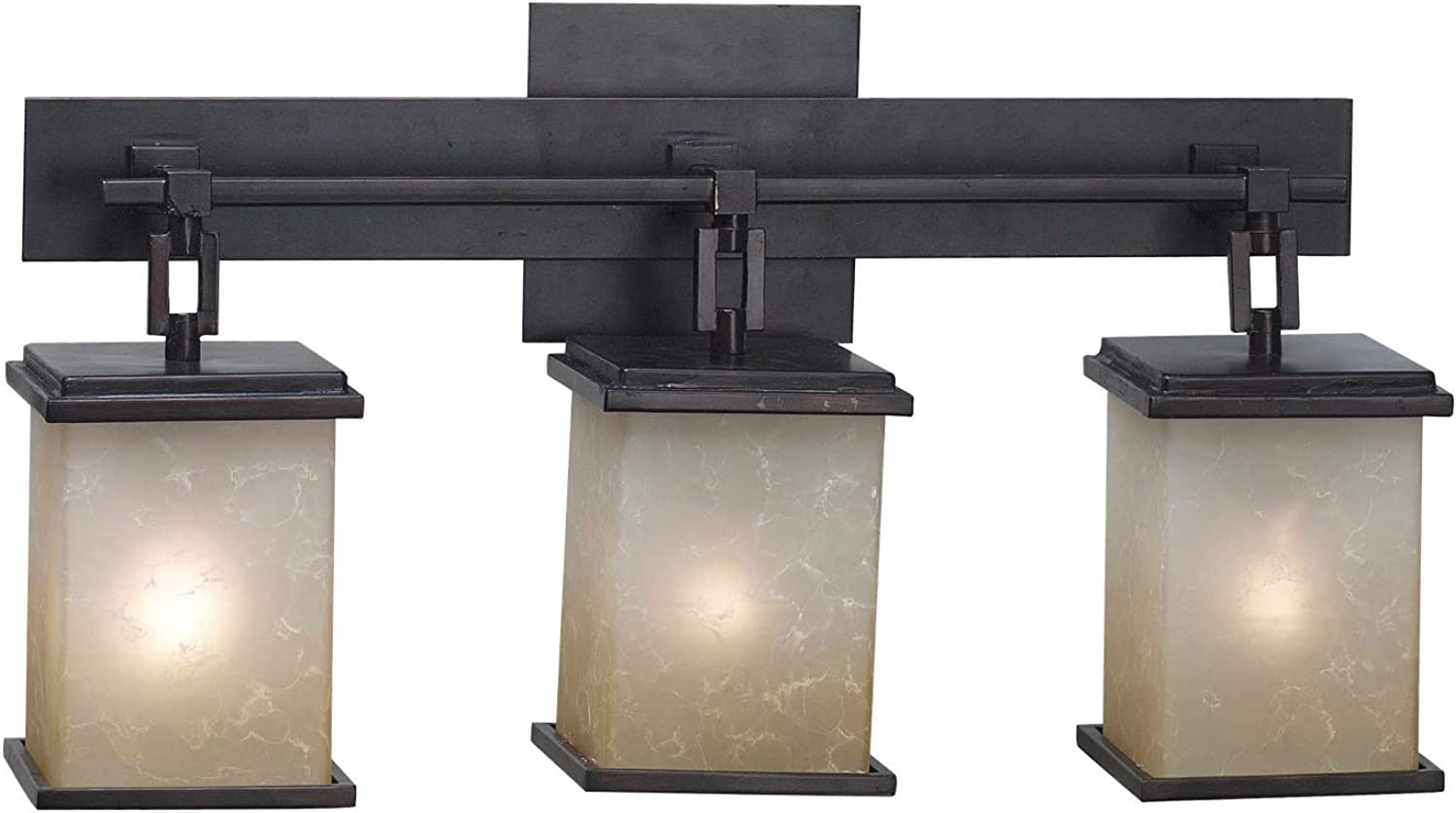 Kenroy Home 3374 Plateau 3-Light Vanity, Oil Rubbed Bronze