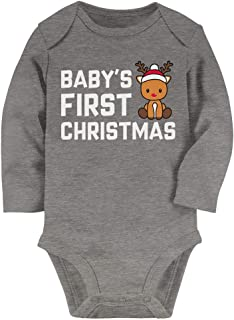 Tstars Holiday Outfit for a Newborn - Baby First Christmas Baby Long Sleeve Bodysuit
