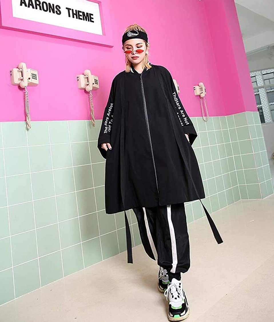 世界的に永久に夜明けに女性のルースコート秋新バットジッパーコートトップスレディースファッションロングスリーブウインドブレーカージャケット