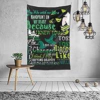邪悪なミュージカルTシャツハッピーハロウィンホームデコレーションヴィンテージヒッピータペストリー部屋の壁掛け壁画寝室リビングルーム毛布寮ファッションウォールアート60x40in