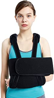 Arm Sling Shoulder Immobilizer,  Adjustable Forearm and Elbow Support,  Maximum Comfort,  Fits Left and Right Hand,  Men Women