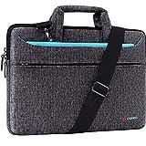 "DOMISO 15.6 inch Laptop Sleeve Shoulder Bag Water-Resistant Protective Messenger Bag Business Briefcase Handbag for 15.6"" Notebook/Yoga 720 IdeaPad 310 320 ThinkPad T570/HP Envy 15, Blue"