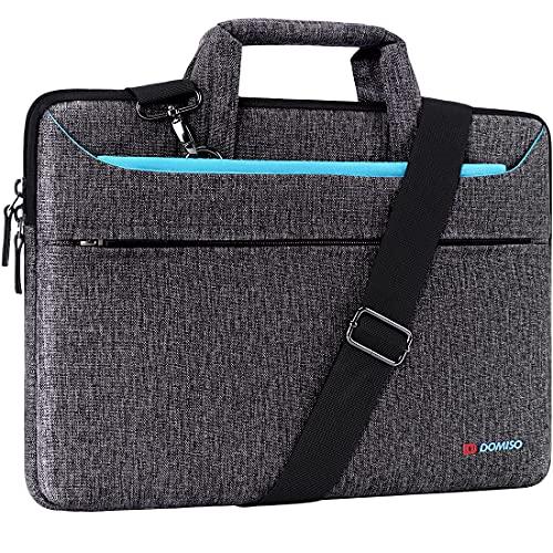 """DOMISO 10.1 Zoll Tablet Tasche Aktentasche Wasserdicht Laptop Schultertasche Notebooktasche Business für 9.7"""" Samsung Galaxy Tab/9.7"""" 10.5"""" iPad Pro/10.1"""" Lenovo Tab 4 10 Plus/Asus/Acer/HP,Blau"""