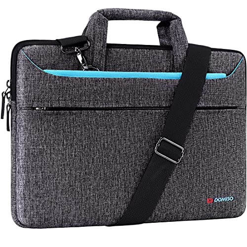 DOMISO 13,3 Pollici Borsa a Tracolla per Laptop Impermeabile Cartella Borsa Porta PC con Manico per 13' MacBook Air A1466/MacBook PRO Retina A1502 A1425/13.5' Surface Book/13.3' ThinkPad L380,Blu