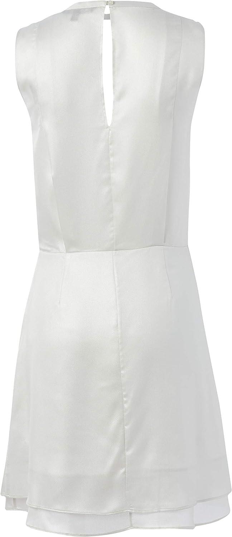 AX Armani Exchange Women's Shinny Laminated Double Georgette Sleeveless Dress