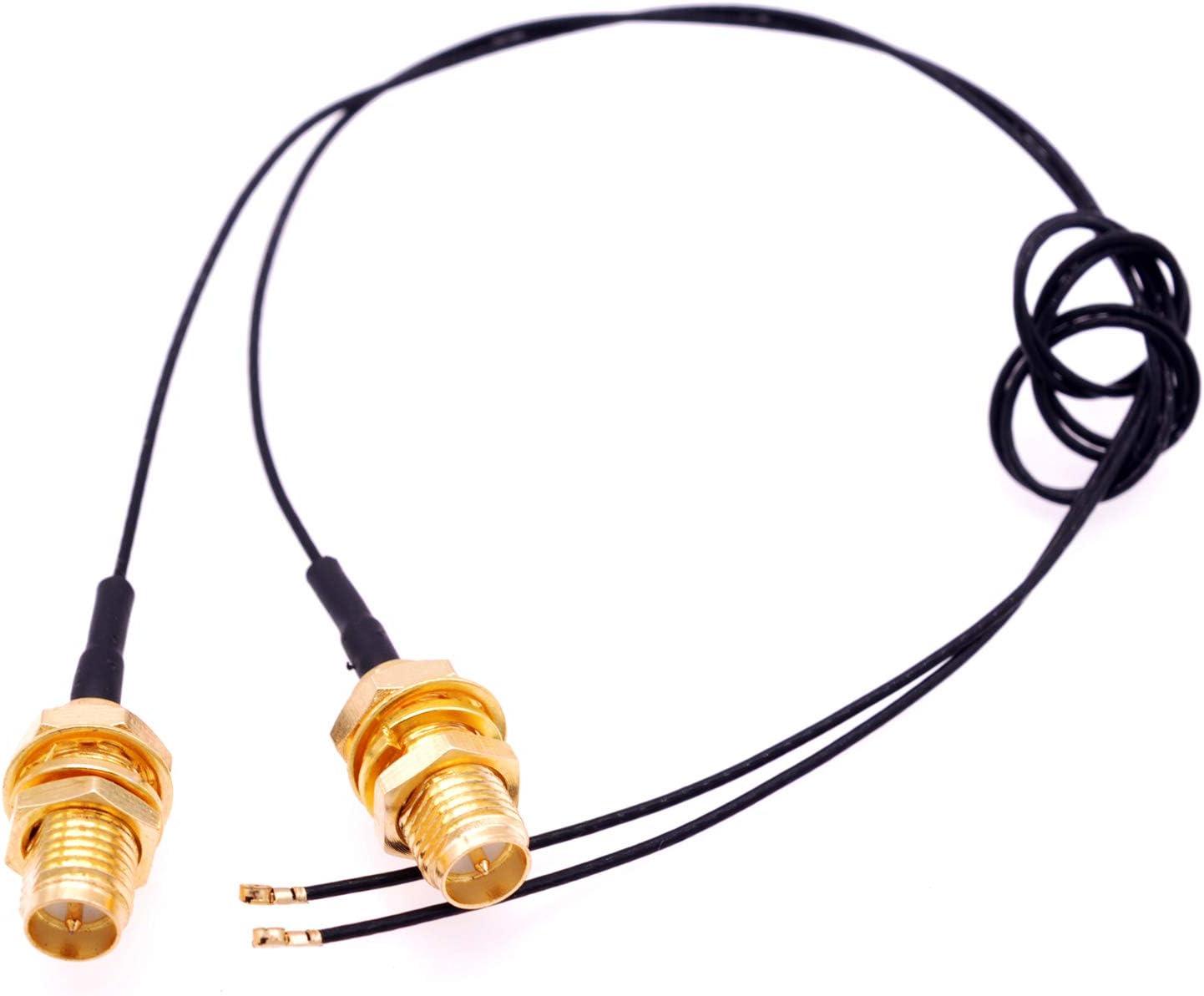 Deal4GO Max 73% OFF 2Pcs 19cm Super beauty product restock quality top! U.FL iPX4 to Connector RP-SMA SMA Fem Antenna