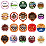 Perfect Samplers Coffee, Tea, Cider, Cappuccino, and Hot Chocolate Single Serve Cups For Keurig K cup Brewers, Perfect Sampler Pack, includes Hot Cocoa from Square and Crazy Cups, 20 Count, n/a