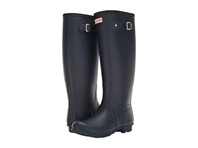 Hunter Original Tall Wide Leg Rain Boots (Navy) Women