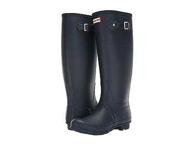 Hunter Original Tall Wide Leg Rain Boots (Navy) Women
