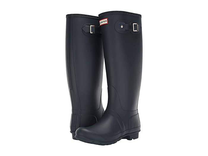 Hunter Original Tall Wide Leg Rain Boots (Navy) Women's Rain Boots