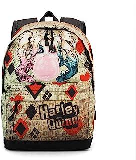Harley Quinn Mad Love Mochila tipo casual, 44 cm, 23 litros, Beige