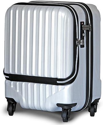 【JP design】OUTLET スーツケース 機内持込 MAX 40l 軽量 小型 フロントオープン ダブルファスナー 8輪 S 【W-Receipt】 キャリーケース キャリーバッグ 前ポケット