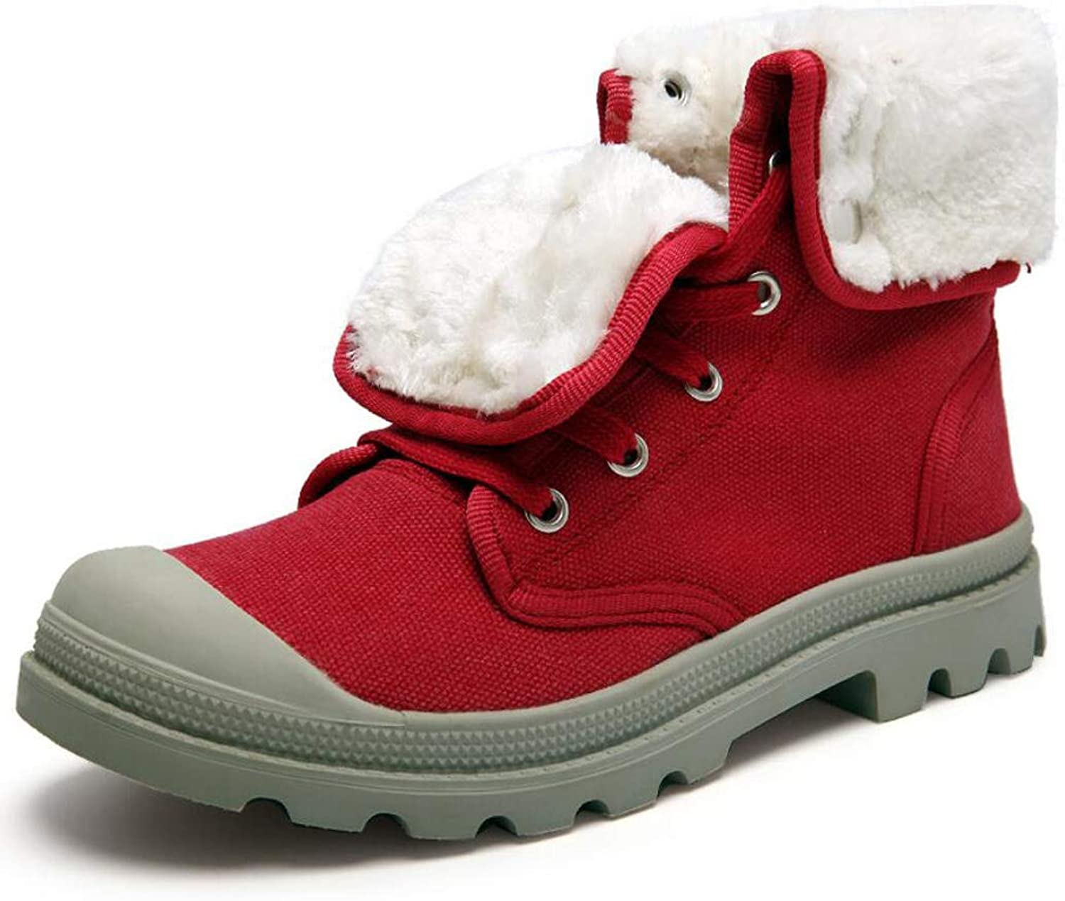 Women's Snow Boots - Waterproof, Textile Upper, Durable & Breathable Isotherm Lining & Rubber Outsole - Designed for fit and Comfort Large Size