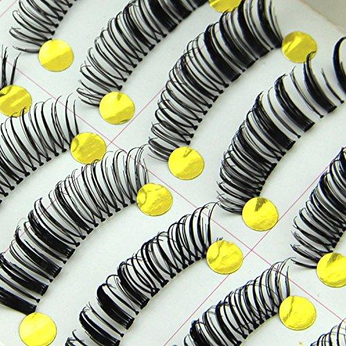 MEYLEE Maquillage Simple Naturel 20 Paires Noir Long épais Souple réutilisable Faux Cils Fake Eye Lash pour cosmétiques Maquillage