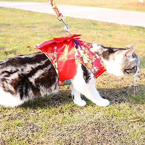 Kimono-Art huisdier trekkoord mooi trekkoord Large rood