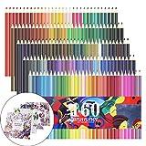 Lot de 160 Crayons de couleur, crayons de couleur pour croquis, dessin, peinture, Plus Lot de 4 livres de coloriage pour adultes comme cadeau Extra