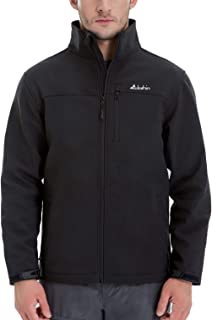 Men's Softshell Jacket Windproof Front-Zip Fleece-Lined...