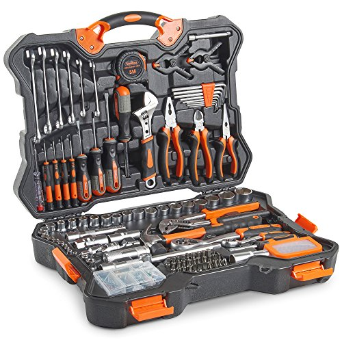 VonHaus Premium Hand Tool Kit + Socket Set 256pc – Combo Tool Kit with Satin-Finished Tools & Heavy Duty Storage Case – Ideal for DIY, Workshop & Garage