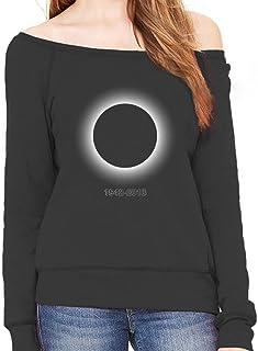Tstars - Black Hole - in Memory 1942-2018 Off Shoulder Sweatshirt