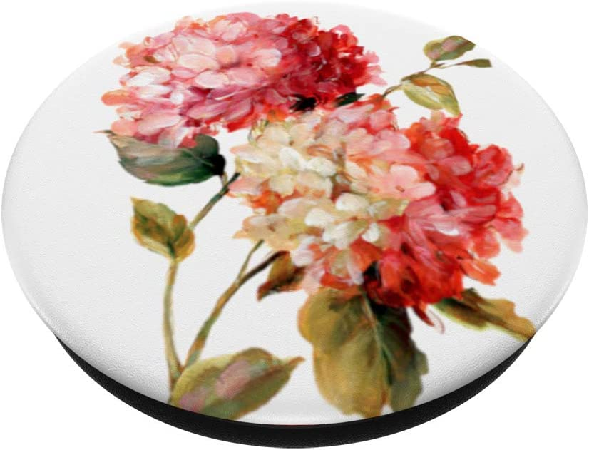 Swappable Grip for Phones /& Tablets Hydrangea Watercolor Flowers Bouquet Floral Mothers Gift PopSockets PopGrip