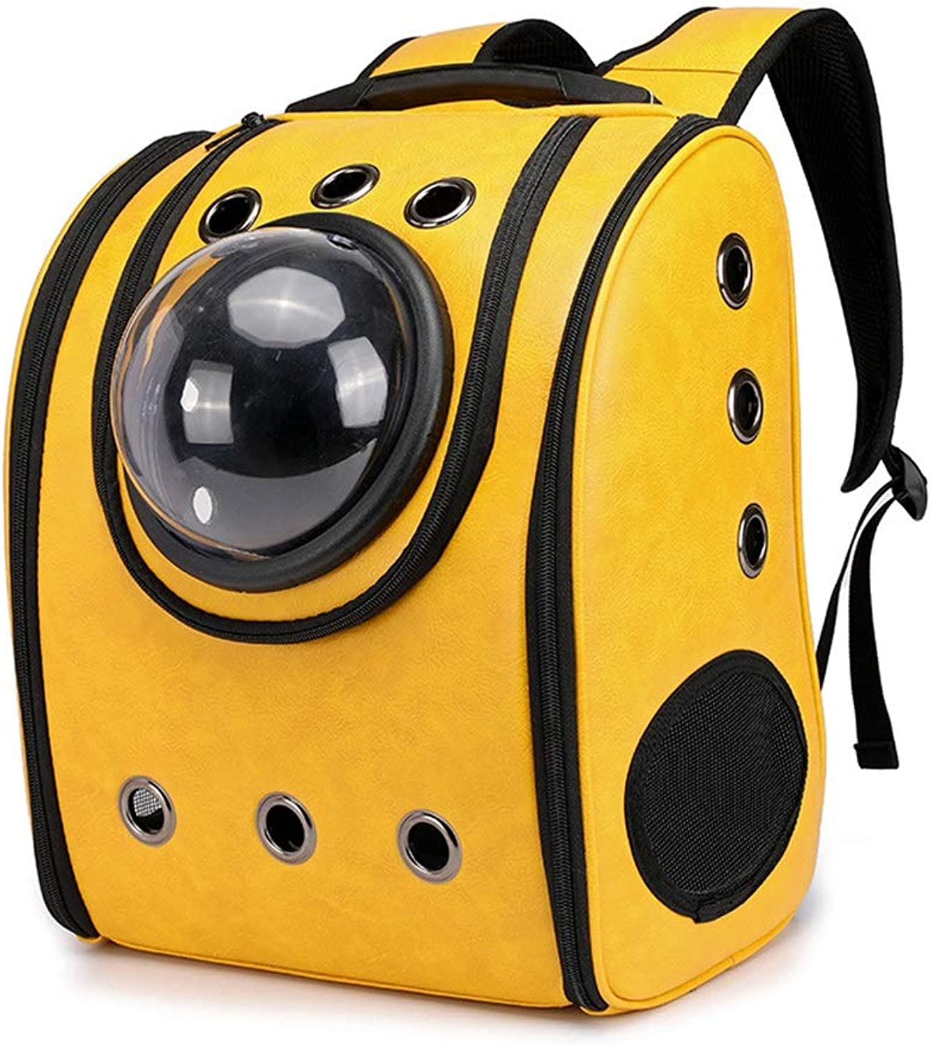 Outofthebox Portable Pet Backpack Breathable Out Pet Supplies (color   Yellow)