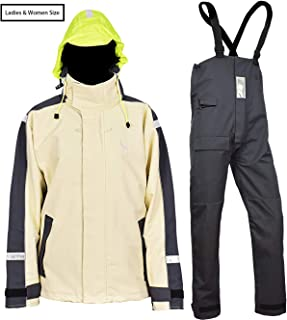 Navis Marine Women's Sailing Jacket with Bib Pants Rain Suits PRO Waterproof Breathable Windproof